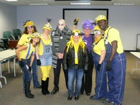Photo: Research staff getting despicable for Halloween 2013