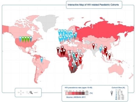 Click to see CIPHER's Interactive Map of HIV-Related Pediatric Cohort Studies