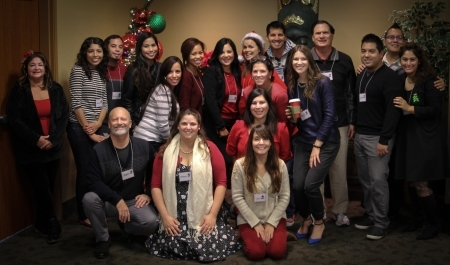 Staff at annual Holiday Party where 300 patients and immediate family members celebrated together